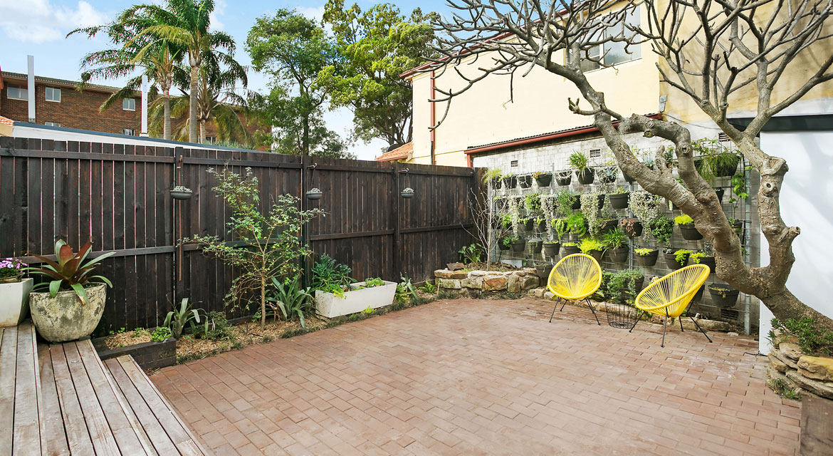 Bunnerong Rd backyard landscaping
